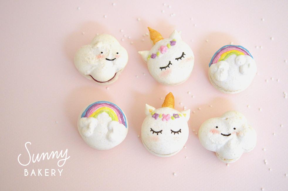 macarons licorne nuage rainbow unicorn