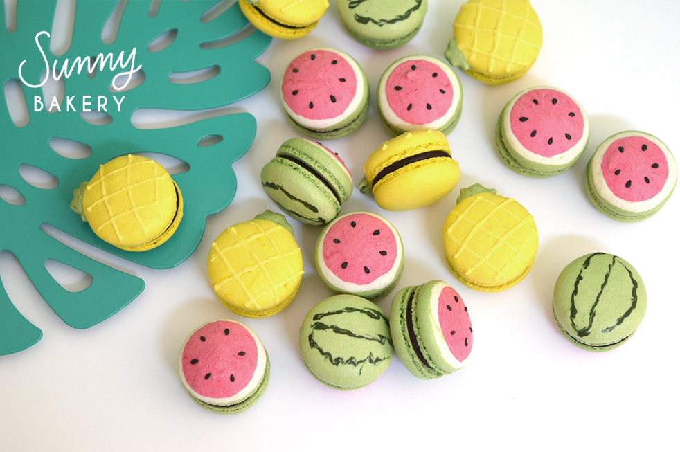 macarons ananas pasteque tutty frutty