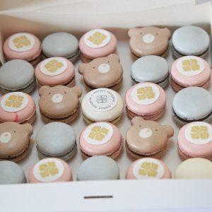 Macarons évenement pro oursons et impressions logo