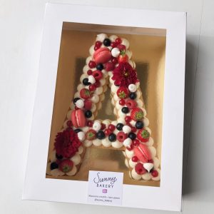 Letter Cake Vanille Fruits rouges