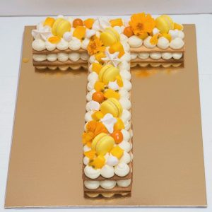 Letter Cake Coco Fruits exotiques