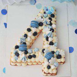 Number Cake Vanille - Thème reine des neiges