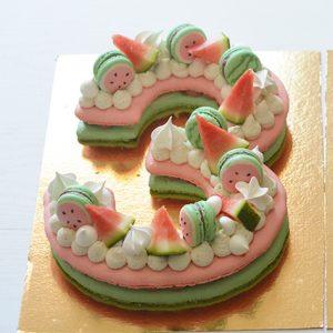 number cake pasteque