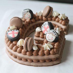 Letter Cake chocolat - Thème chevalier