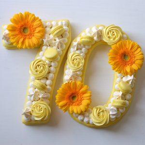number cake 70 jaune citron
